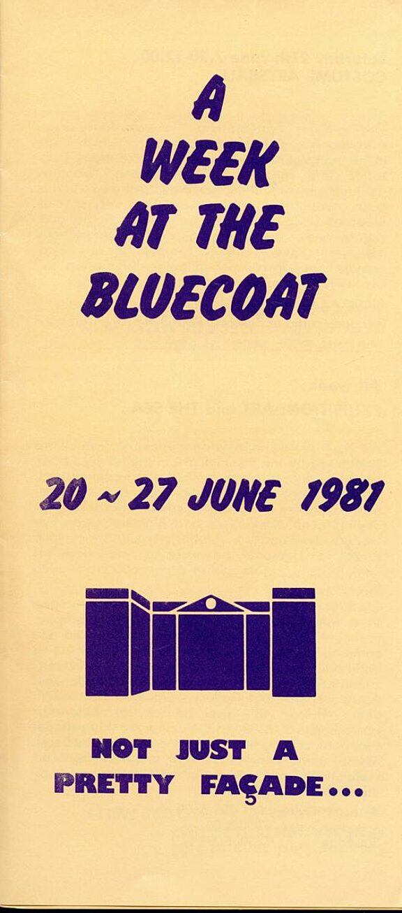 Brochure for A Week at the Bluecoat, 20-27 June