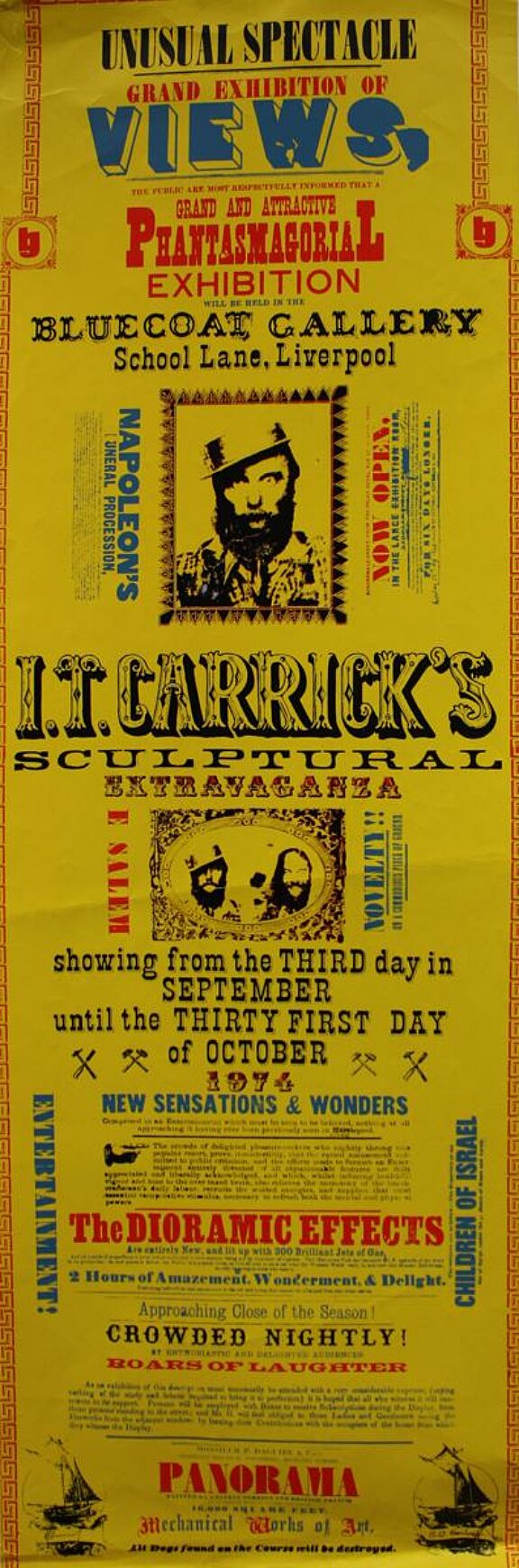 Poster for Ian Carrick's Scuptural Extravaganza exhibition