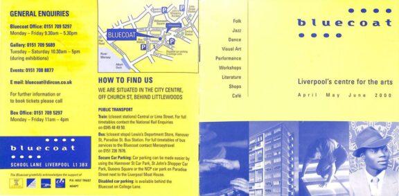 April - June 2000 Events Brochure