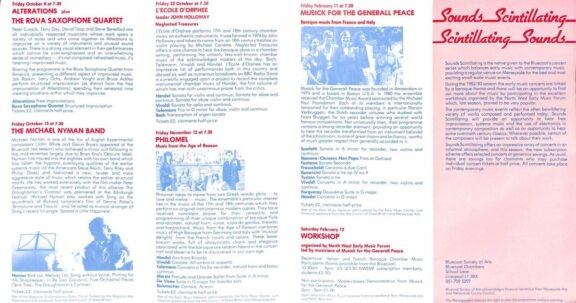 Sounds Scintillating Brochure, 1982-83