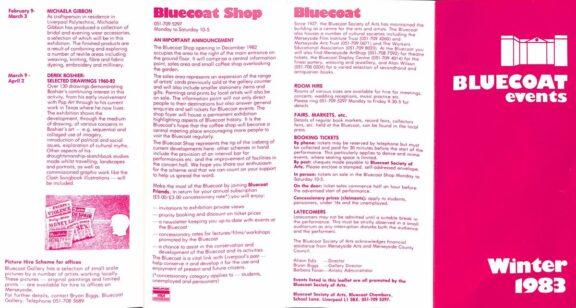 Winter 1983 Events Brochure