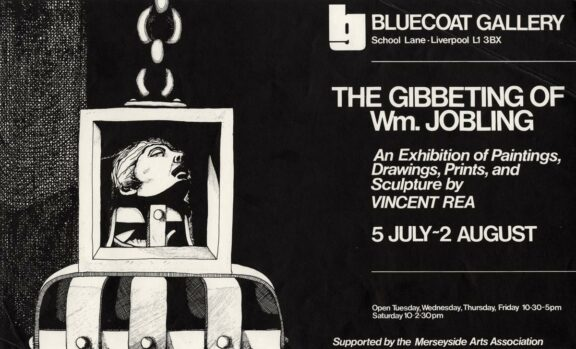 Poster for exhibition, The Gibbeting of Wm Jobling