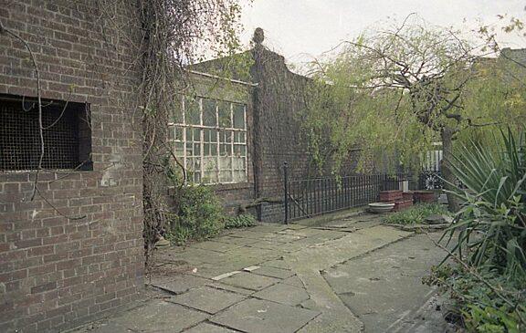Artist's studio overlooking the Bluecoat garden