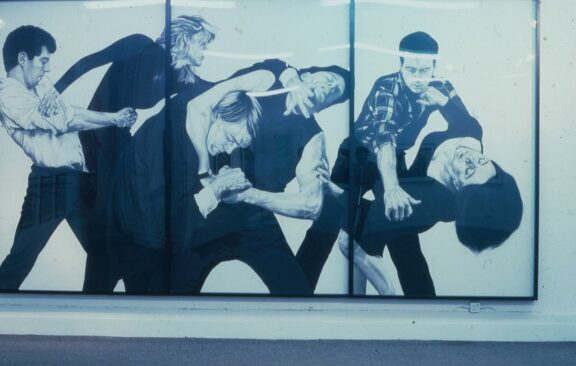 Robert Longo's work at Bluecoat in the exhibition, Urban Kisses: 7 New York Artists
