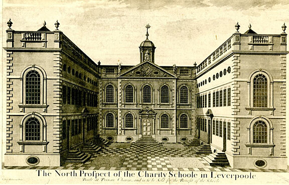 The North Prospect of the Charity Schoole at Leverpoole