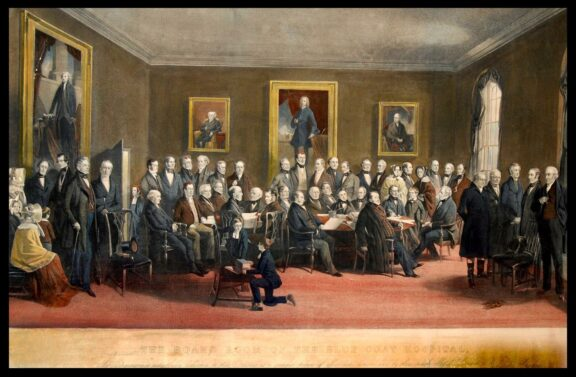 Richard Ansdell (1815–1885), The Boardroom of the Liverpool Blue Coat Hospital