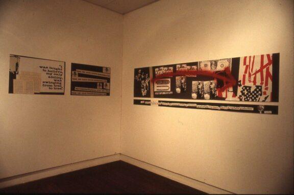 Eddie Chambers installation in the exhibition, Black Skin Bluecoat