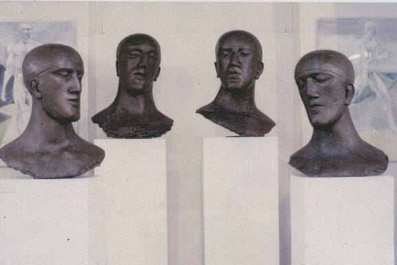 Elizabeth Frink sculptures in the exhibition, Women's Images of Men, at Bluecoat