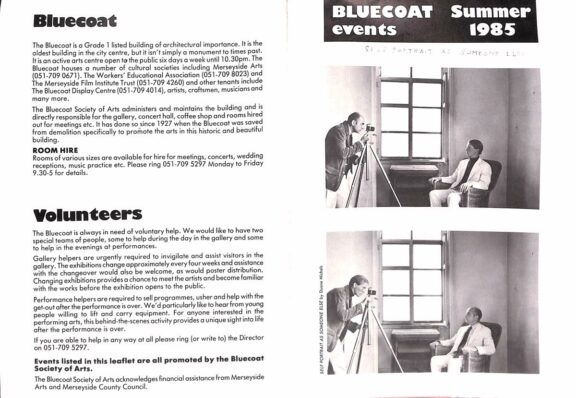 Summer 1985 Events Brochure