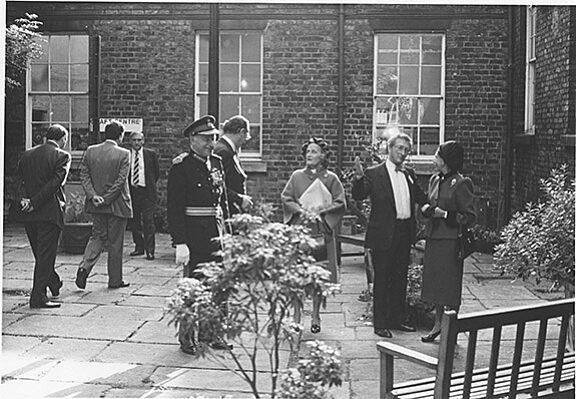 Princess Margaret visiting Bluecoat