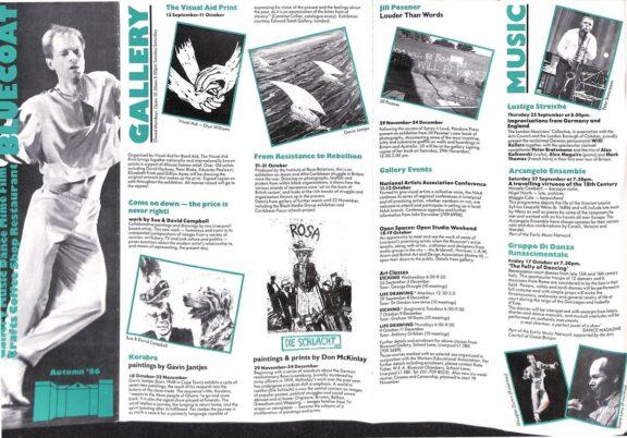 Autumn 1986 Events Brochure
