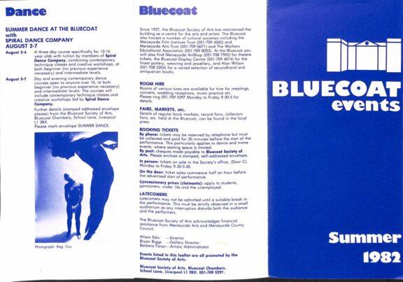 Summer 1982 Events Brochure