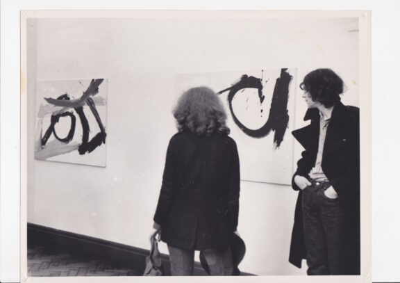 Visitors to the Captain Beefheart exhibition