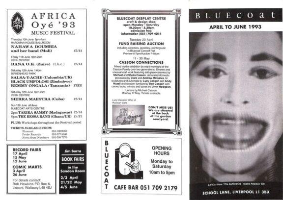 April - June 1993 Events Brochure