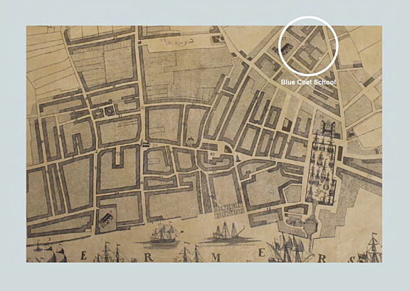 Mapp of all the streets lanes and alleys within the town of Liverpool
