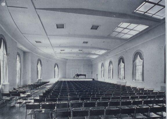 Concert Hall post-war restoration