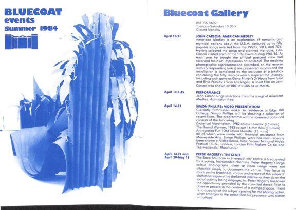 Summer 1984 Events Brochure