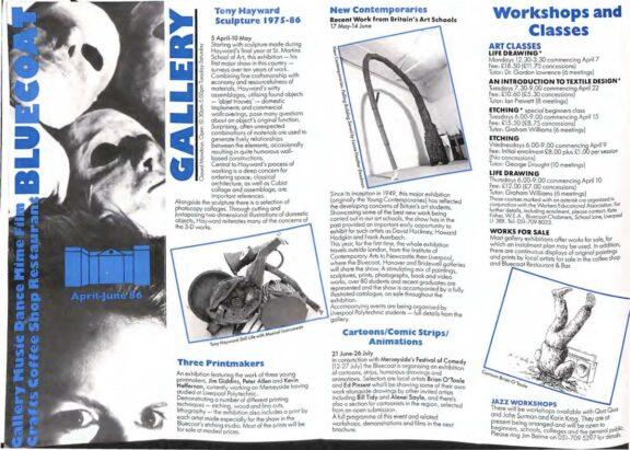 April - June 1986 Events Brochure