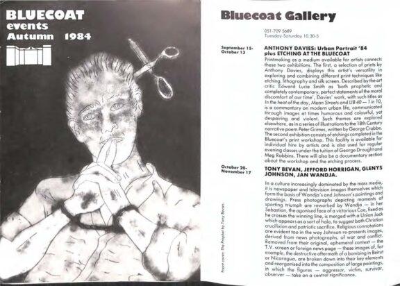 Autumn 1984 Events Brochure
