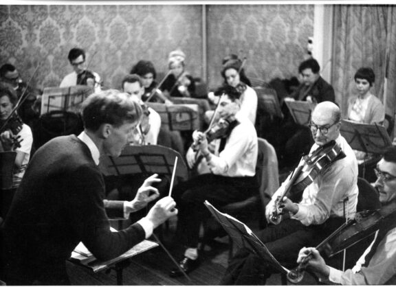Liverpool Mozart Orchestra rehearsing at Bluecoat