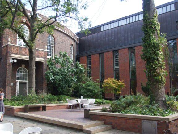 The re-landscaped Bluecoat garden