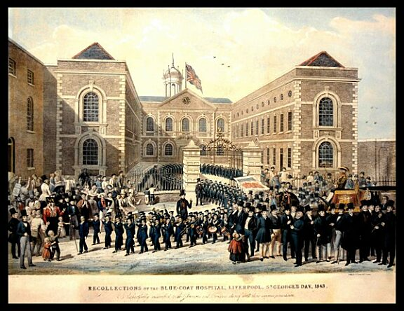 Recollections of the Blue Coat Hospital, Liverpool, St Georges Day
