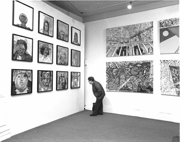 John Hyatt's paintings in the exhibition, Connections