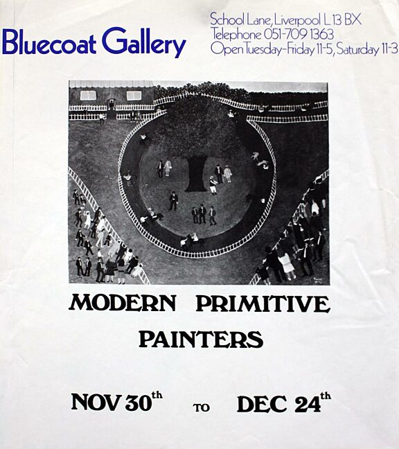 Poster for Modern Primitive Painters exhibition