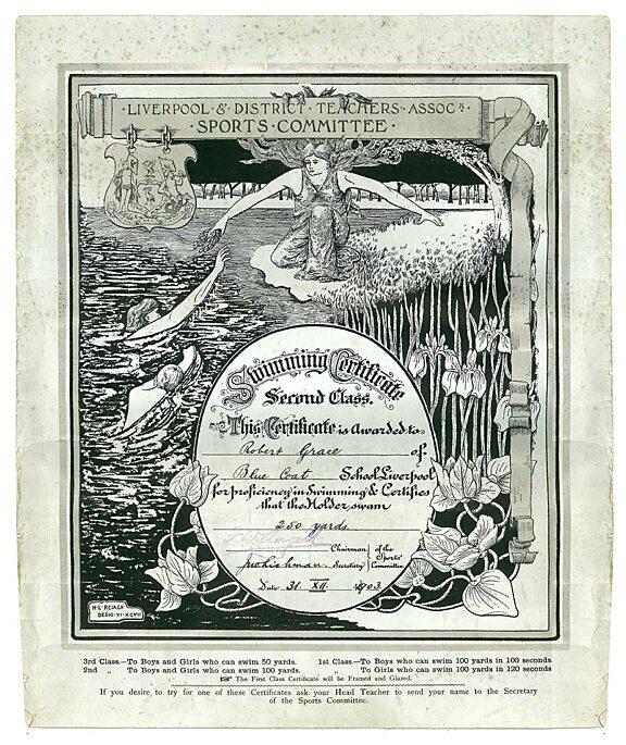 Pupil's Swimming Certificate