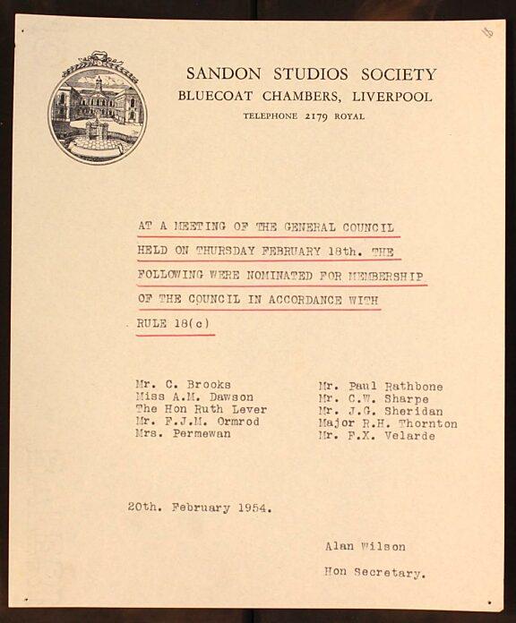 Sandon Studios Society Council nominees