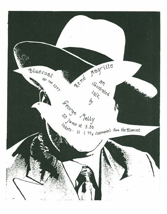 Poster for George Melly talk on René Magritte