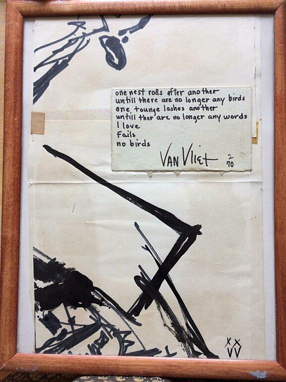 Captain Beefheart exhibition artwork for poster