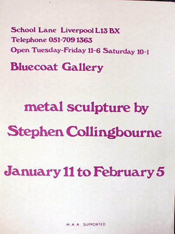 Alternative poster for Stephen Collingbourne exhibition