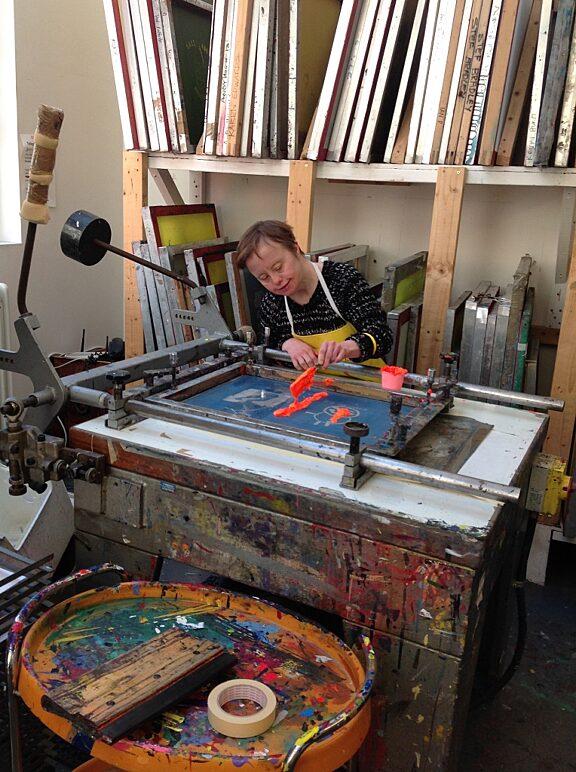 Blue Room in the Print Studio