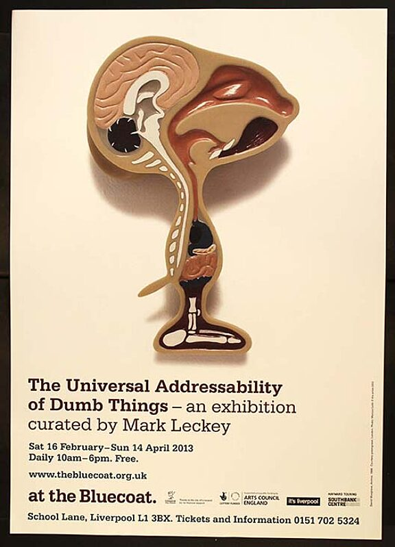 Poster for The Universal Addressability of Dumb Things exhibition