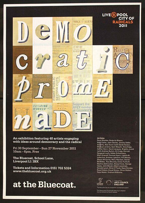 Poster for Democratic Promenade exhibition