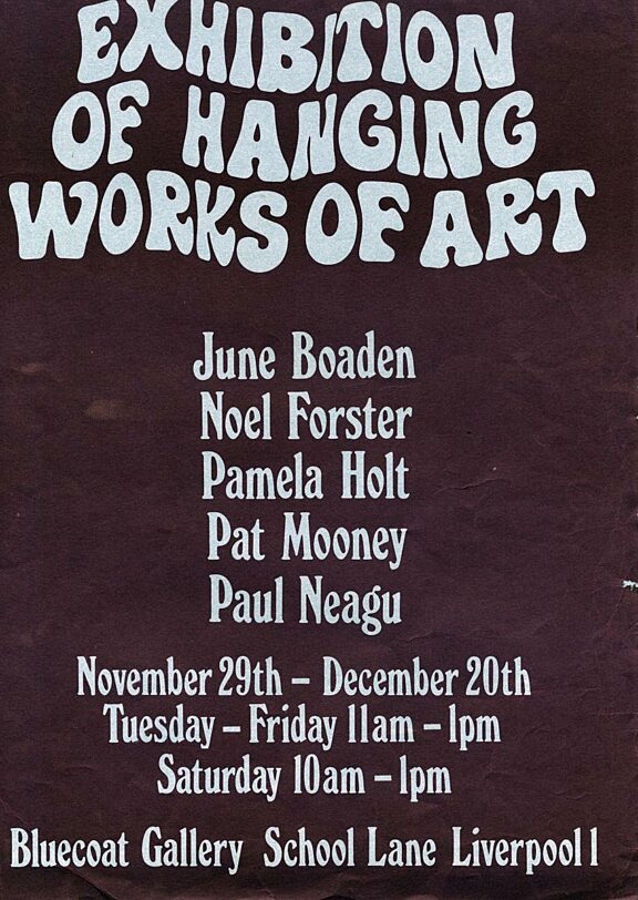 Poster for Exhibition of Hanging Works of Art