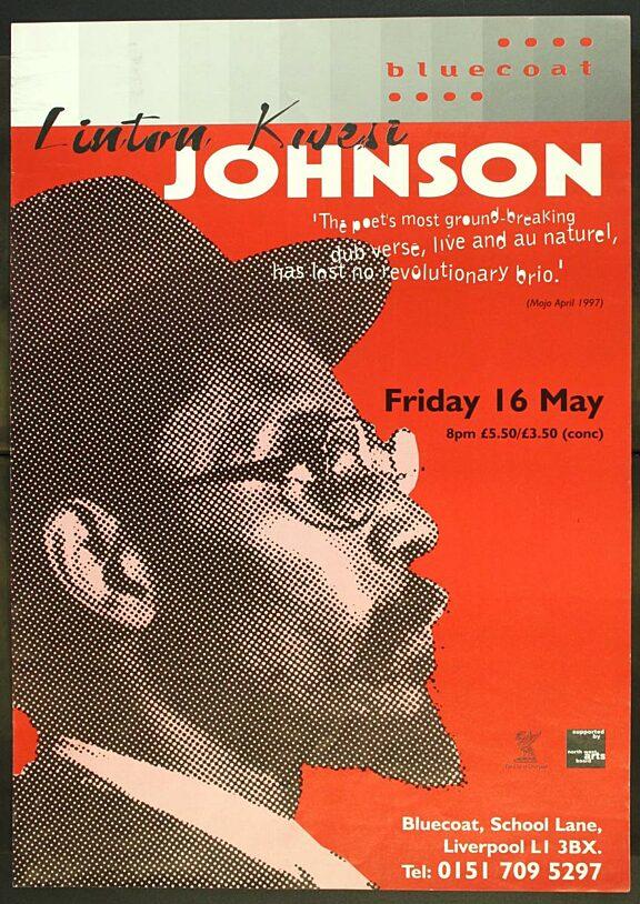 Poster for Linton Kwesi Johnson performance