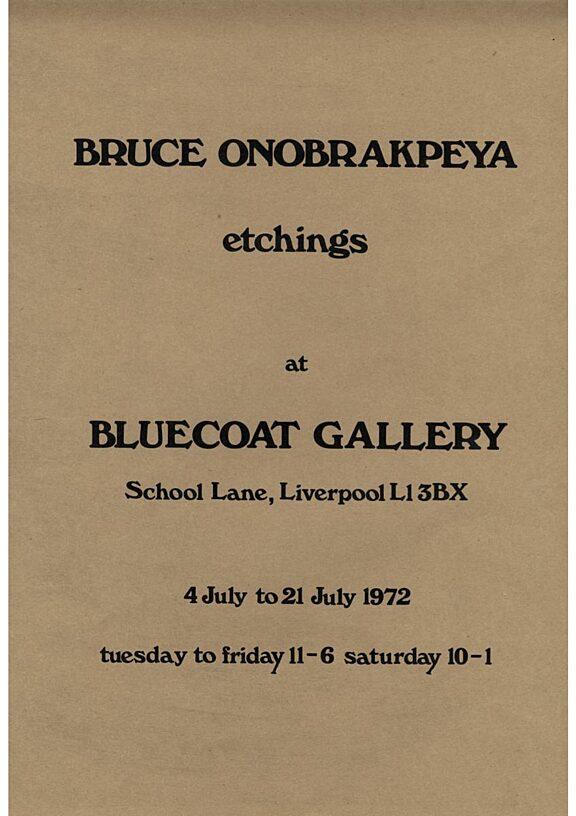 Poster for Bruce Onobrakpeya exhibition