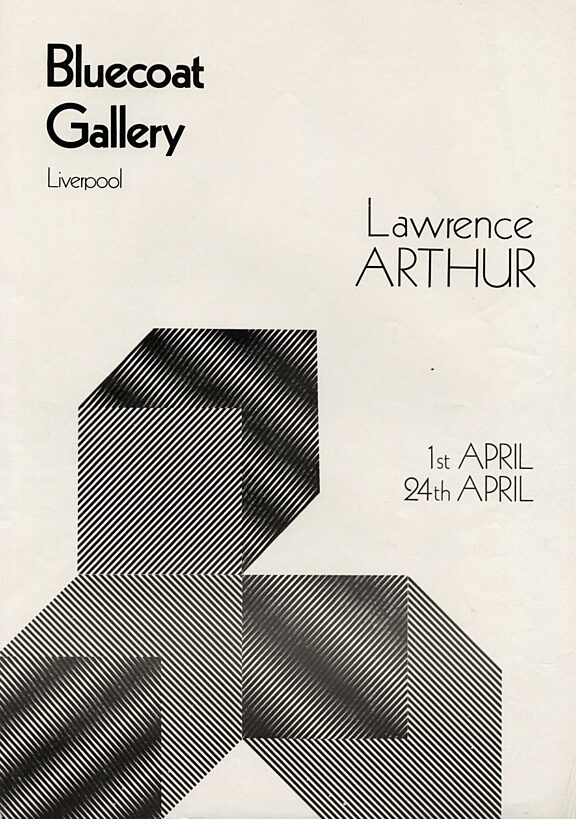 Poster for Lawrence Arthur exhibition