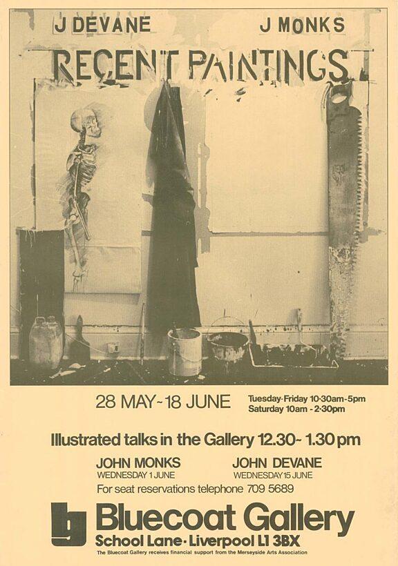Poster for exhibition, John Devane and John Monks: Recent Paintings