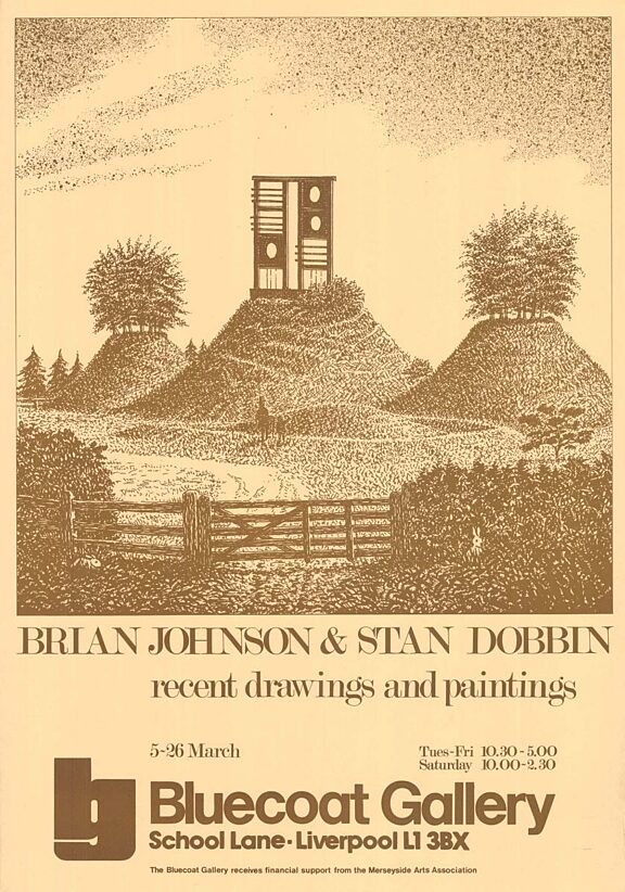 Poster for the exhibition, Brian Johnson & Stan Dobbin: Recent drawings & paintings