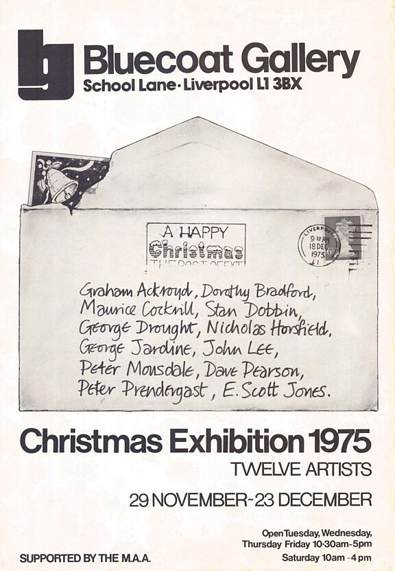 Poster for Bluecoat Christmas Exhibition, 1975