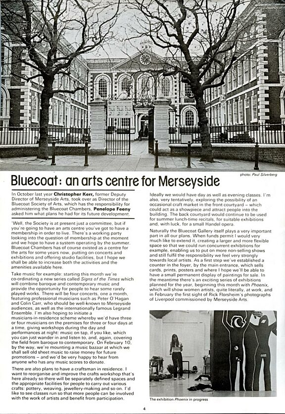 Arts Alive feature on Bluecoat