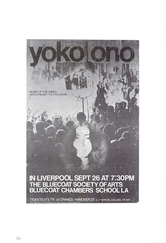 Poster for Yoko Ono performance