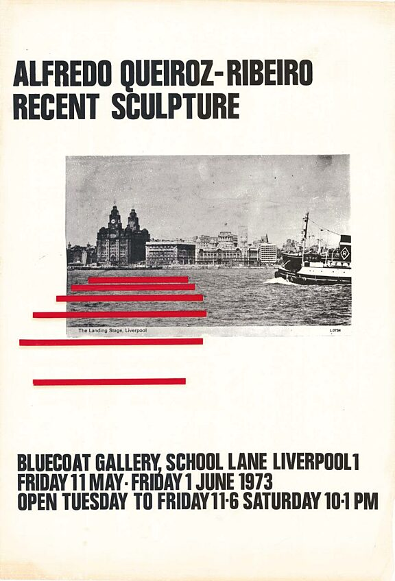 Poster for exhibition, Recent Sculpture by Afredo Queiroz-Ribeiro
