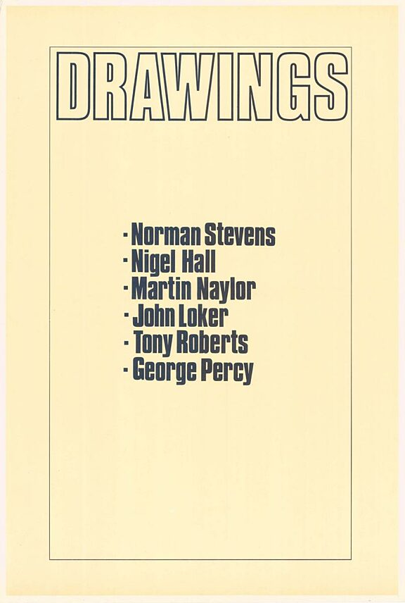 Poster for Drawings exhibition