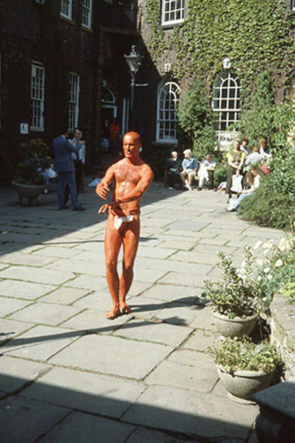 Robin Blackledge, performance in the garden