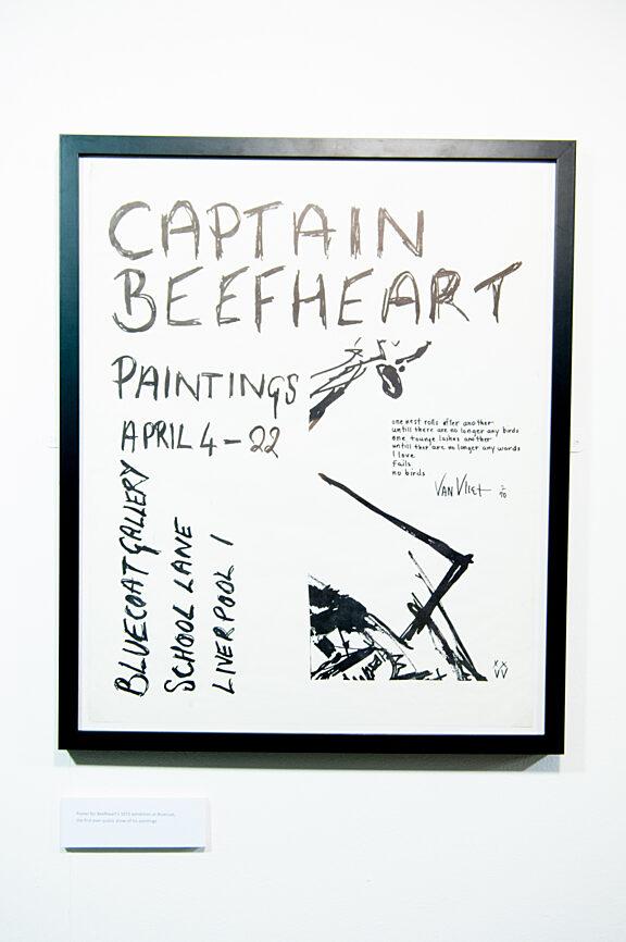 Poster for Captain Beefheart exhibition