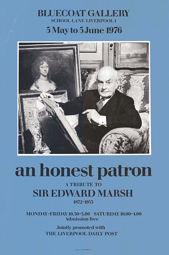 Poster for the exhibition, An Honest Patron: a Tribute to Sir Edward Marsh
